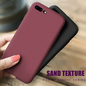 For-iPhone-7-8-Plus-X-XR-XS-Max-Case-Ultra-Thin-Sandstone-Back-Soft-Cover-Case