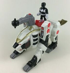 Imaginext-White-Ranger-Zord-Power-Rangers-2pc-Lot-w-Black-Figure-and-Tiger