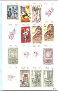 One-circulated-Spain-stamp-club-society-circuit-approval-booklet-Collection-A