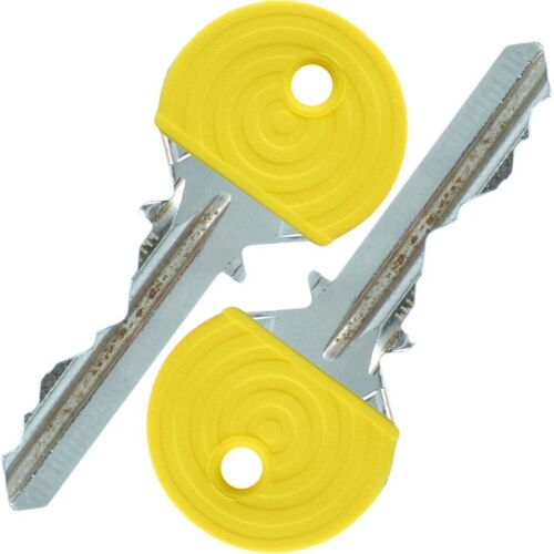 2 KEY COVER CAPS Strong Plastic Easy Identify ID Colour Tag Door Front Door Lock