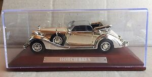 DIE-CAST-034-HORCH-853-A-034-SILVER-CARS-COLLECTION-ATLAS-1-43