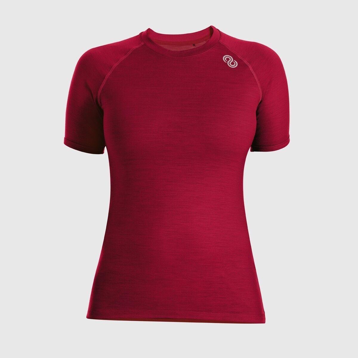 rojoa rewoolution ali-mujer 's t-shirt SS 140, ropa interior, lana merino, Ruby