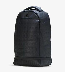 9A1898-023-AIR-JORDAN-RETRO-13-XIII-LAPTOP-BACKPACK-BLACK-NEW