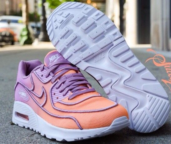 Women's Nike Air Max 90 Ultra 2.0 BR Casual Shoes - Sunset Glow/Orchid/White Special limited time