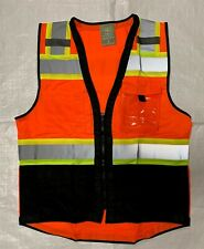Topcal High Visibility Safety Vest Withsee Through Water Proof Pocket Comm Grade