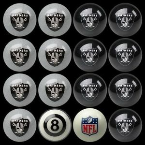 NFL-Oakland-Raiders-Pool-Billiards-Ball-Set-w-FREE-Shipping