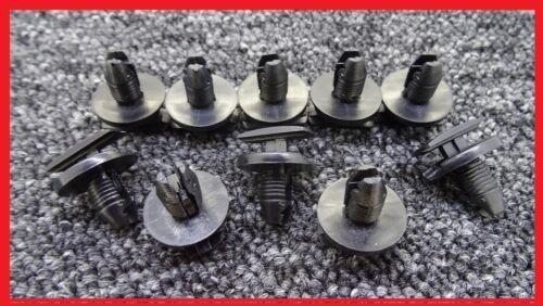 10 x ford noir véhicule boot trim strip cover clips