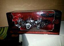 Diecast 1/18 100 Anniversary Softail Family Series Set of 3 Harley bikes