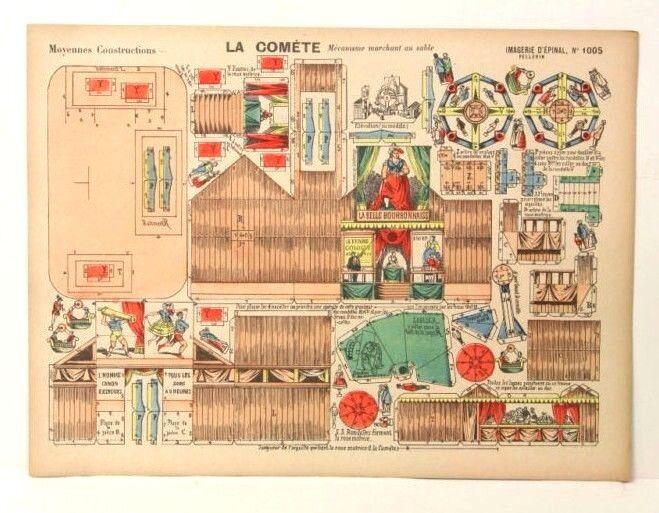 Imagerie d'epinal no 1005 la Comète, moyennes construcción robusto modelo de papel