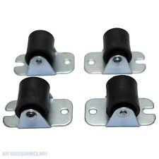 4 X Heavy Duty 18mm Pvc Fixed Castor Wheels Trolley Furniture Caster Bearing
