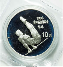 1995 China Large Silver Proof 10 Y- Olympic Gymnast