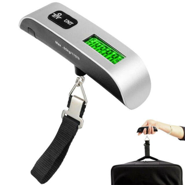 50kg/10g Portable LCD Digital Hanging Luggage Scale Travel New Electronic Weight