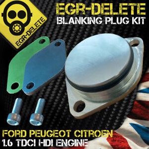 VANNE-EGR-Plaque-d-039-Obturation-Ford-Fiesta-Focus-C-Max-Fusion-1-6-TDCi-EGR-Supprimer