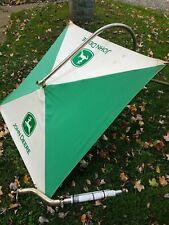 New Listingvintage John Deere Canvas Tractor Umbrella Bracketsboom Green White Rare