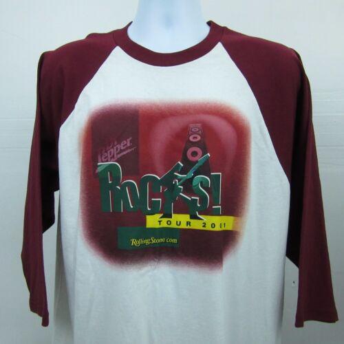 Dr Pepper ROCKS TOUR 2001 Rolling Stone Concert Tour T-Shirt Size XL Made USA