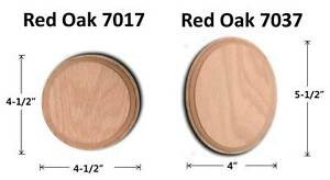 Image Is Loading 7017 7037 Red Oak Round Oval Rosette Wood