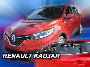 Saute vent RENAULT KADJAR 5-porte 2015-aujourd/'hui 4-tlg HEKO Foncé Déflecteurs