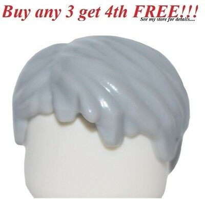 Light Bluish Gray Hair Female Short Tousled with Side Parts Minifig LEGO