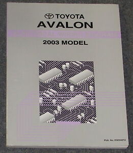 2003    Toyota       Avalon    Electrical    Wiring       Diagram    Service Manual   eBay