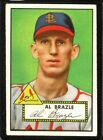 1952 Topps #228 Al Brazle ST LOUIS CARDINALS [Red Back] ~ EX