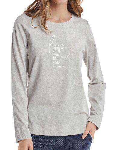 159873 Marc O/'Polo Damen Schlafanzugshirt Shirt Langarm Crew-Neck