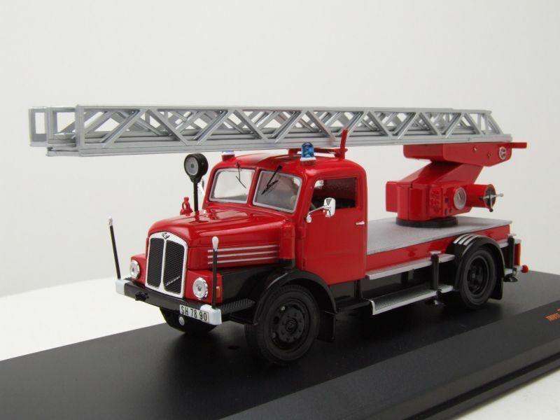 Ifa S4000 Dl Ladder Fire Brigade 1962 Model Car 1 43 Ixo Models Red