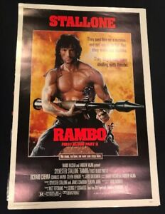 RAMBO-FIRST-BLOOD-PART-2-ORIGINAL-MOVIE-POSTER-ROLLED-1985-Great-Shape-P1