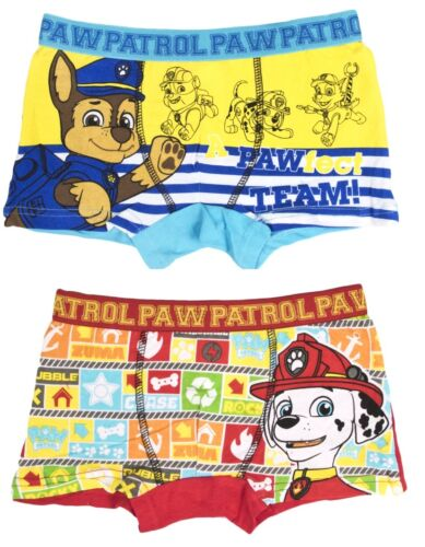 Kids Boys Paw Patrol Boxer Shorts Childrens Character Underwear Chase Marshall