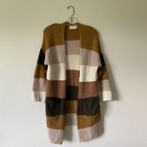 XS-DREAMERS-Woman-s-Striped-Cardigan-Sweater