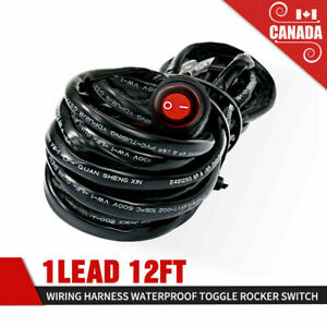 LED-light-Bar-Pod-Wiring-Harness-12V-40A-Relay-Fuse-Switch-Kit-For-Driving-Lamps