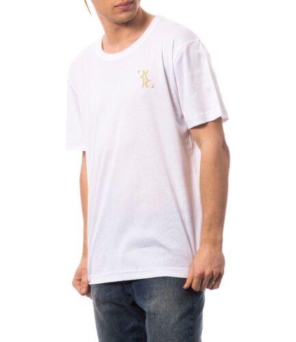 L Billionaire Couture Men/'s Creewneck T-Shirt logo BB White size