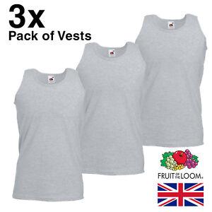 3-Pack-Mens-Grey-Vests-Summer-Tank-Top-Man-FOTL-Cheap-Plain-Bulk-Work-Gym-Sale
