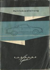 VW-KARMANN-GHIA-Betriebsanleitung-1963-CABRIOLET-Bedienungsanleitung-Handbuch-BA