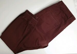 Stray-Men-039-s-Elastic-Leg-Bottom-Burgundy-Casual-Pants-Size-34