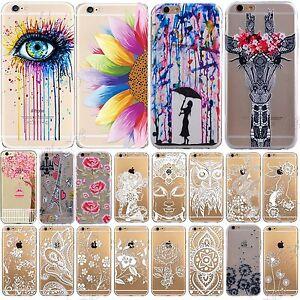 Moderno-Estampado-Ultra-Fino-TPU-Transparente-Funda-Blanda-para-iPhone-6S-6-5S