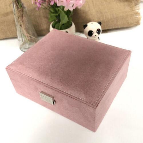 Velvet Rings Earrings Jewelry Display Organizers Box Tray Holders Storage Case