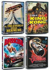4-DVD-LOTTOIL-TRIANGOLO-DELLE-BERMUDE-BARRACUDA-IL-FIGLIO-DI-KING-KONG-NUOVI