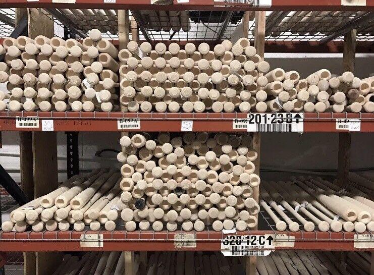 6-juego listo imperfección de Madera bates de béisbol (  envío Gratuito