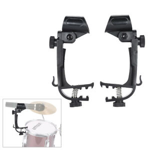 2pcs-Clamp-Clip-On-Drum-Rim-Microphone-Mic-Mount-Holder-Shockproof-I0A0