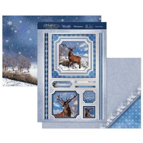 Nuevo 2020 Hunkydory estacional Stag Navidad Toppers /& Kit de tarjeta