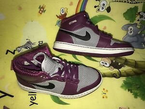 official photos 36b6e a24e1 Image is loading Nike-Air-Jordan-Nike-iD-Purple-Grey-407034-