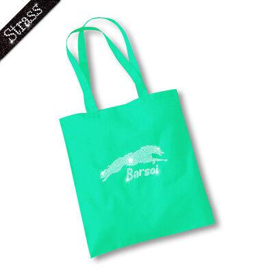 Jutebeutel Beutel Bag Einkaufstasche Shopper Strass Barsoi M1