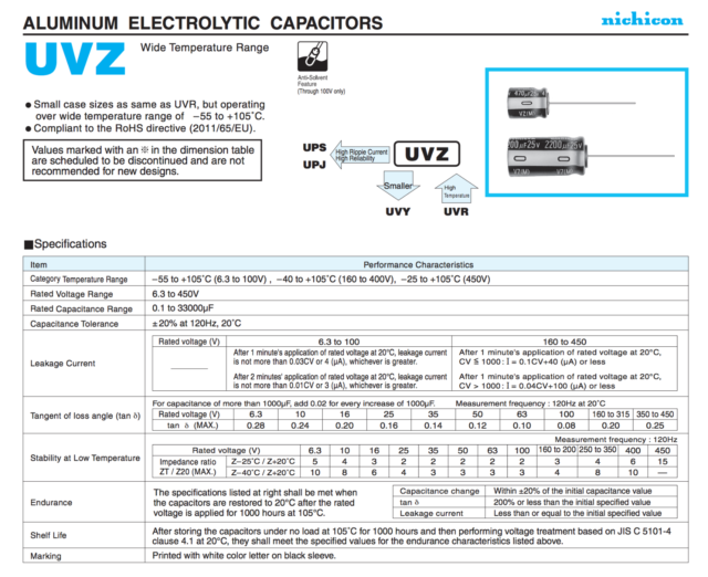 Nichicon 2200uf 16v Electrolytic Radial Capacitors Qty 1 Capacitor for sale online