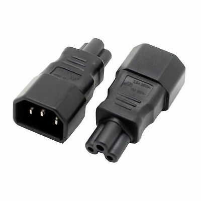 Standard IEC 320 C14 to C5 adapter, IEC 320 C5 to C14 AC power adapter