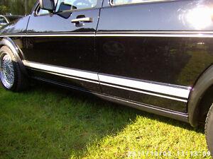 Aufkleber Zierstreifen Dekorstreifen silber VW Golf 1 I 2 GTI Jetta GLI Cabrio