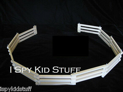 Wooden AMISH Toy Pig Cow Horse Barn Farm Corral Fence * Wood Toy Fence Corral