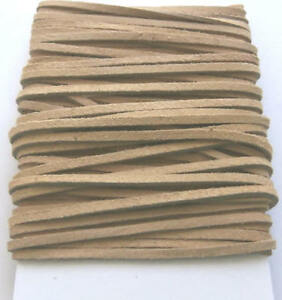 2-Metres-x-5mm-Natural-Beige-Colour-Suede-Leather-Craft-Lace-Cord-Thonging