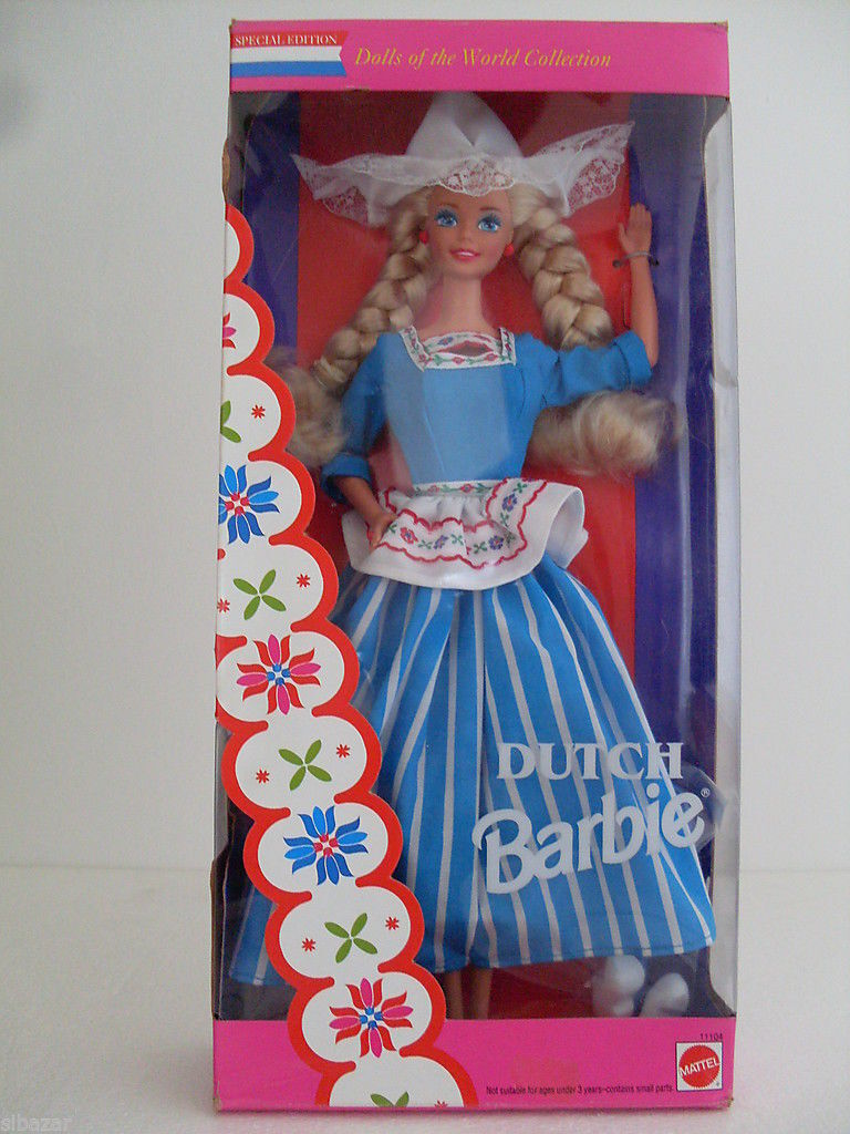 Barbie dutch dolls of the world special edition olanda collector 1993 dotw 11104