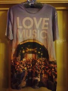Mens-White-034-Love-Music-034-Tshirt-Size-M-Topman