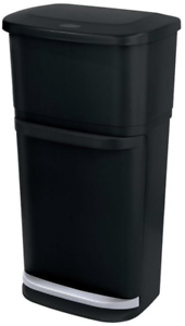 Recycling Bin Trash Can Indoor 2 In 1 Garbage Waste Kitchen Sorting Rubbermaid
